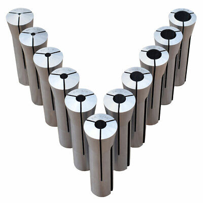 Ultra Precision 11 Pc. R-8 Collet Set 18 - 34 Made In Taiwan Free Shipping