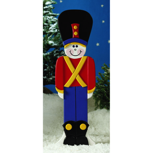 Large Wooden Soldier/Sentry Holiday Woodworking Blueprint Plan