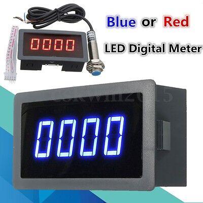 4 Digital Led Tachometer Rpm Speed Meter Hall Proximity Switch Sensor Npn Kit
