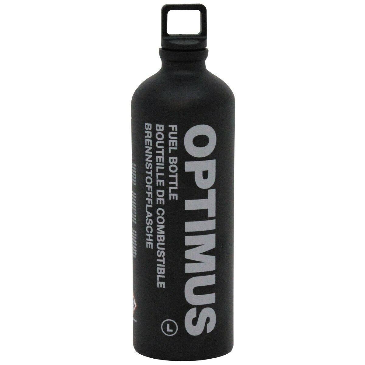 Optimus Brennstoffflasche Tactical Schwarz Fuel Bottle 0,6/1 Liter Benzinflasche