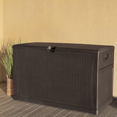 Outdoor Storage Deck Box Large Chest Bin Patio Garden 120-Gal Container -