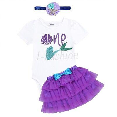 Babykleider Kostüm Säugling baby Mädchen entzückende Meerjungfrau Partykleid Set