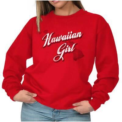 Hawaii Fashion Hawaiian Girl Trendy State Sweat Shirt Sweatshirt For - Hawaiian Shirts For Girls