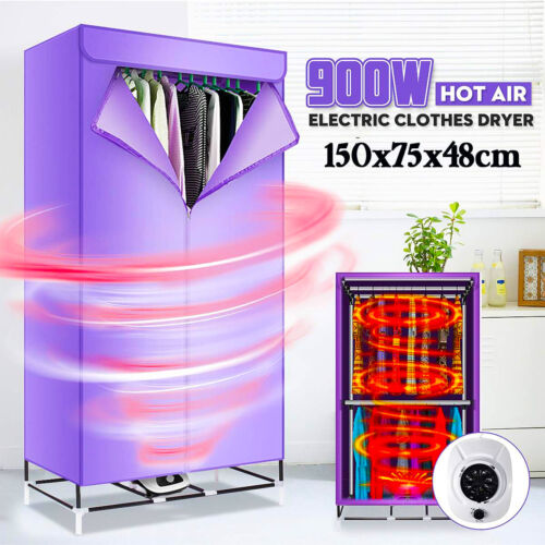 Portable Electric Clothes Dryer Heater Fast Drying Machine Laundry Storage Home