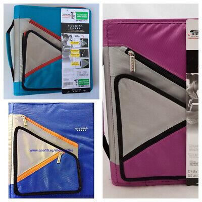 New Mead Five Star 1.5 300 Sheet Capacity Zipper Binder Exterior Zipper Pockets