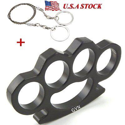 Brass Knuckle Dusters Black Jewelry Pendant Charm Sterling Hard Four Finger Ring