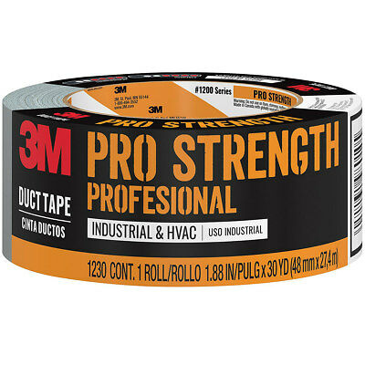 Scotch 1230-a Pro Strength Duct Tape 1.88 W X 30 Yard L Gray
