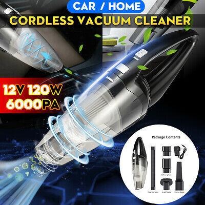 6000PA CORDLESS Car Vacuum Cleaner 120W Auto Portable Wet Dr