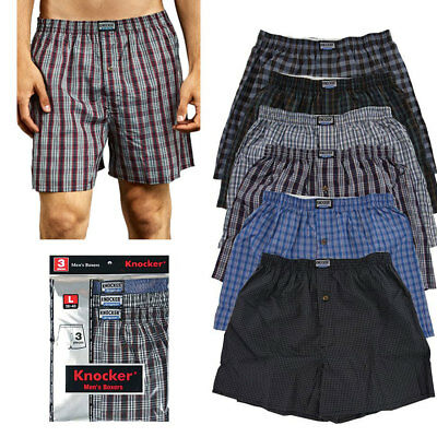 6 Mens Plaid Boxer Shorts Lot New Underwear Pairs Pack Small Medium Large XL XXL - Adult Mens
