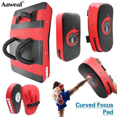Kick Boxing Strike Curved Arm Pad MMA Focus Muay Thai target Pad Punch Bag - Punching Mitts