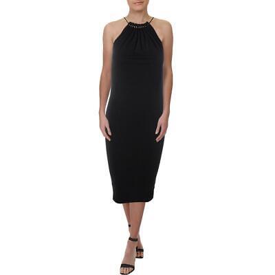 Lauren Ralph Lauren Womens Black Beaded Ruched Casual Dress S BHFO 0457