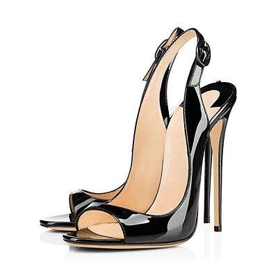 onlymaker Women's Peep Toe Heeled Sandals Slingback High Heel Stiletto Pumps