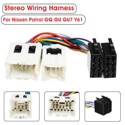 Car Stereo Radio ISO Wiring Harness Loom Adaptor Connector For Nissan Patrol GU7
