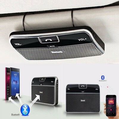 Bluetooth 4.0 Hands-free Multipoint Speakerphone Speaker Car Kit Sun Visor