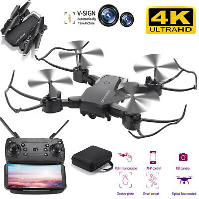 Mini Drone Selfie WIFI FPV Dual HD Camera Foldable Arm RC Quadcopter Toy USA