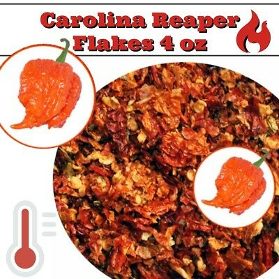 Carolina Reaper Flakes 4oz - World's Hottest Pepper - Crushed Carolina Reaper (Crushed Peppers)