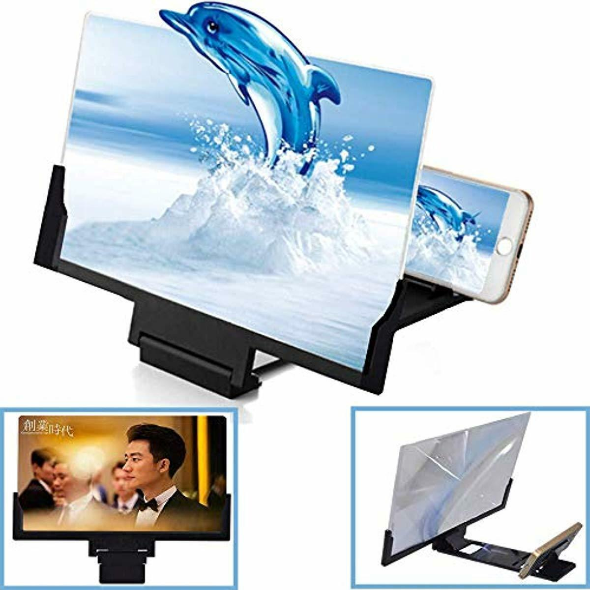 "12/'/'// 8/"" 3D teléfono móvil lupa pantalla HD amplificador vídeo smartphone stand"