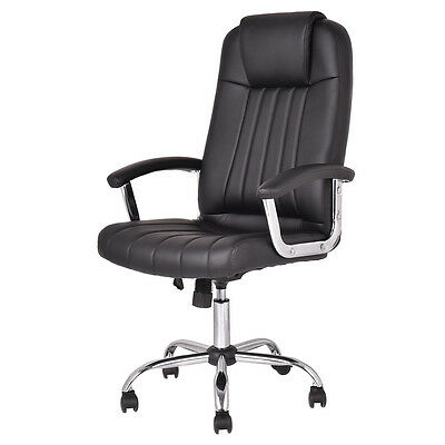 New Ergonomic PU Leather High Back Executive Computer Desk Task Office Chair