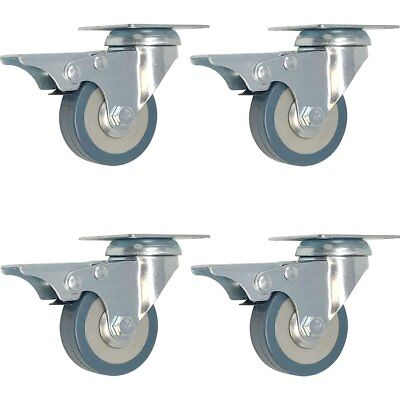 4 Pack 2-inch Swivel Lock Brake Plate Caster 2 With Brake
