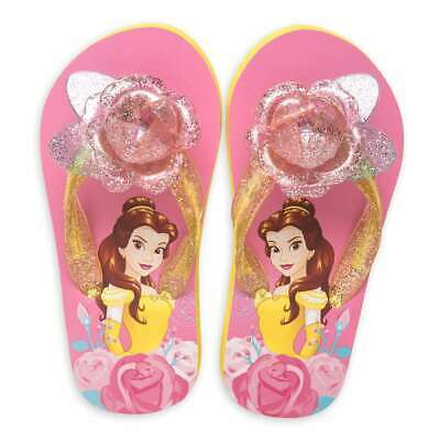 NWT Disney Store Belle Flip Flops Sandals Shoes Girls Beauty and the Beast