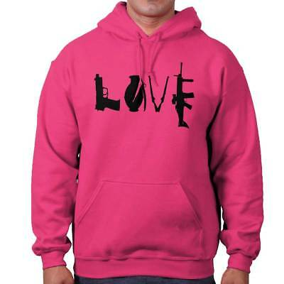 - Love 2nd Amendment Firearms USA Political Right Bear Arms Hooded Sweatshirt