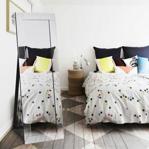 Silver Full Length Dressing Mirror Wooden Frame Floor Standing Bedroom Home