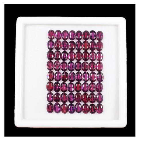 64 Pcs Natural Rhodolite Garnet 6mm*4mm Oval Cut Top Quality Untreated Gemstones