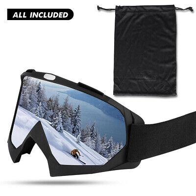 Most Valued Ski Goggles for Snowmobile Snowboot Snowboard Anti-fog Crisp Vision