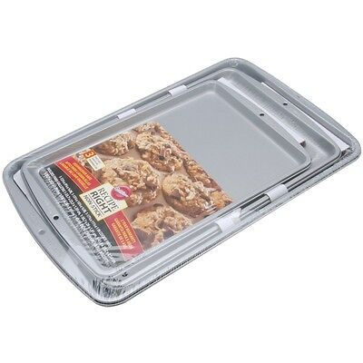 Non Stick Cookie Sheets 3 Pc Baking Pan Sheet Wilton