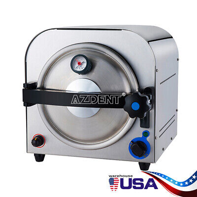 14l Autoclave Steam Sterilizer - Dental Medical Lab 900w Sterilization