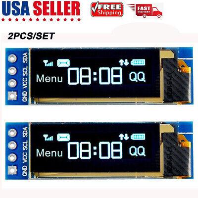 2pcs I2c Oled Display Module 0.91 Inch I2c Ssd1306 Oled Display Dc 3.3v5v