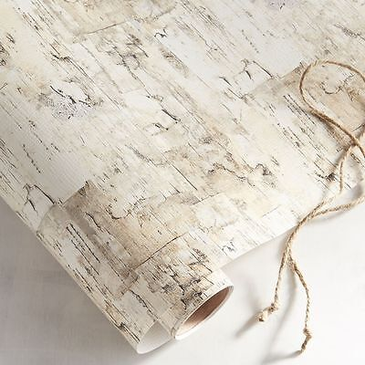 PIER ONE Birch Embossed Gift Wrap PAPER Tree RUSTIC Wedding WRAPPING DIY GIFT