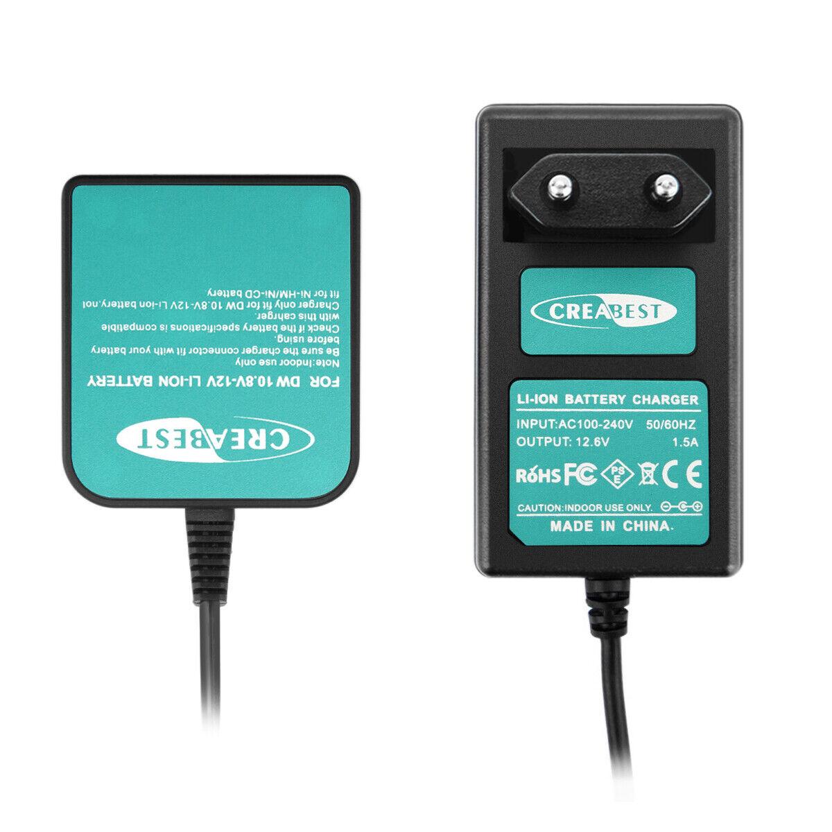 12V Li-Ionen Akku Ladegerät für Dewalt DCB120 DCB121 DCB127 DCD710 DCF813 DCF815