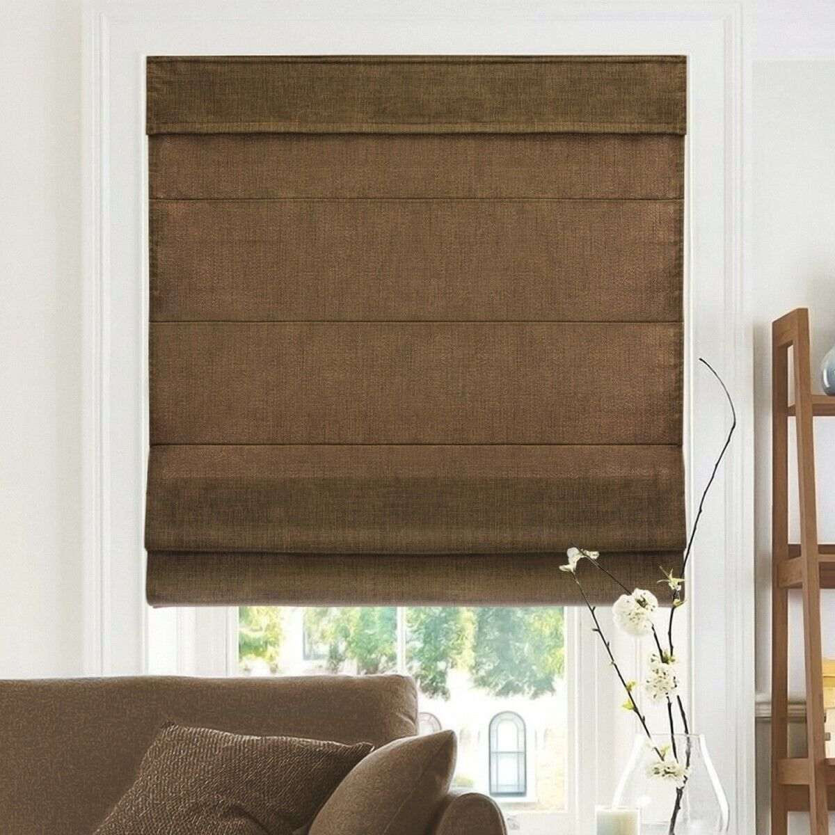 Chicology Cordless Roman Shades & Soft Fabric Window Blind 3
