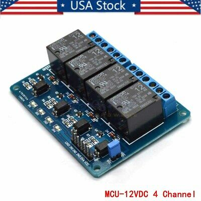 4 Channel Dc12v Highlow Level Relay Module Board Low Trigger G5la Power Relay U