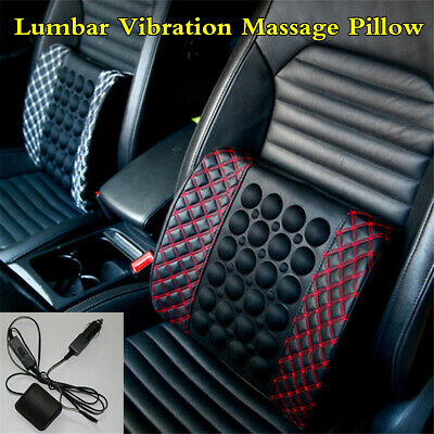 Lumbar Vibration Massage Pillow Car Seat Electric Cushion Waist Back Relax Rest