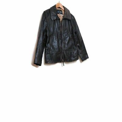 AJ Armani Jeans Brown Leather Jacket I 48 US 32