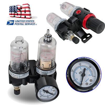 14 Air Compressor Oil Water Regulator Filter Pressure Gauge Moisture Trap Mpa