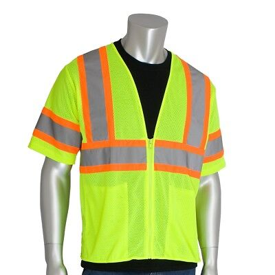 PIP Class 3 Reflective Economy Two Toned Safety Vest, Yellow/Lime Class 3 Economy Vest