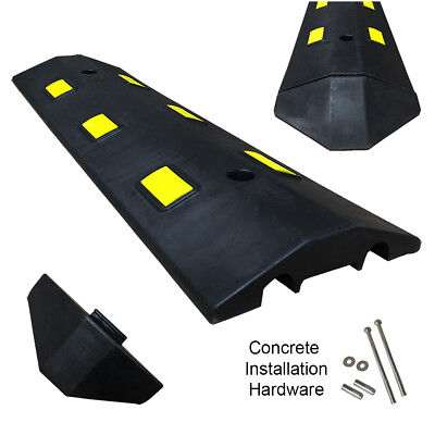 3ft Concrete Light Weight Speed Bump Traffic Road Safety Control Black Yellow