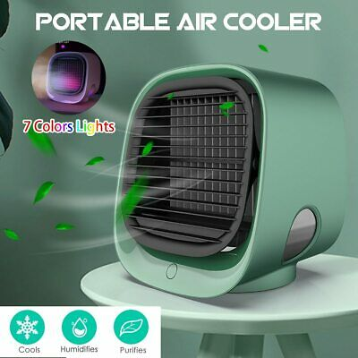 Portable Air Conditioner Multi-function Humidifier Purifier USB Air Cooler Fan