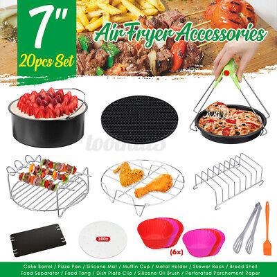 12Pcs 7'' Air Fryer Accessories Pizza Pan Cake Barrel Muffin