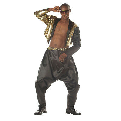 Old School Rapper Adult Costume MC Hammer Vanilla Ice Parachute Pants Mens