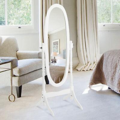 Full Length Swivel Ovel Floor Mirror Wooden Cheval Free Stan