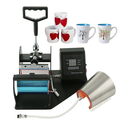 2 In 1 Cone Coffee Mug Cup Sublimation Heat Press Transfer Machine Diy Printer