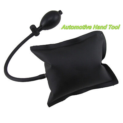 Portable Car Air Wedge Inflatable Shim Strong Airbag Cushioned Opener Tool Black