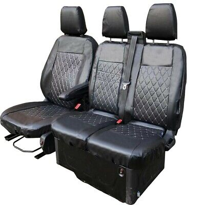 FORD TRANSIT CUSTOM LEATHERETTE FRONT SEAT COVERS 2015 ON 161