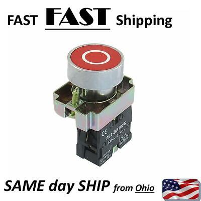 Shop Industrial Control Panel Mount Momentery Push Button Switch Red Circle Xb2