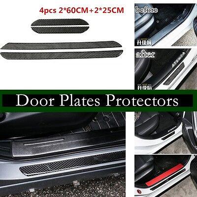 BLACK CARBON FIBRE Effect Door Step Sill Protectors fits MAZDA 02B