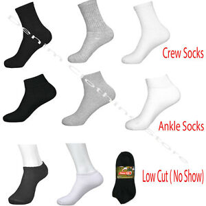 Wholesale-Lots-Men-Solid-Sports-Cotton-Crew-Ankle-Socks-3-COLORS-SIZE-9-11-10-13